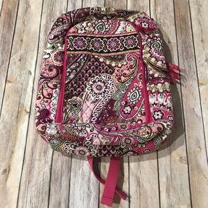 Vera Bradley Laptop Backpack Very Berry Paisley